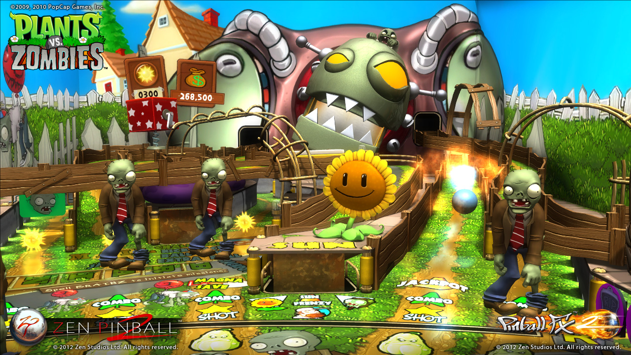 Zen pinball 2 and plant vs zombies table review