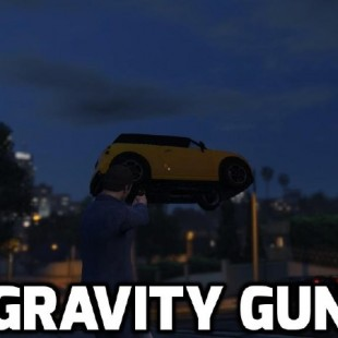 Gravity Gun 1.5 Mod for GTAV