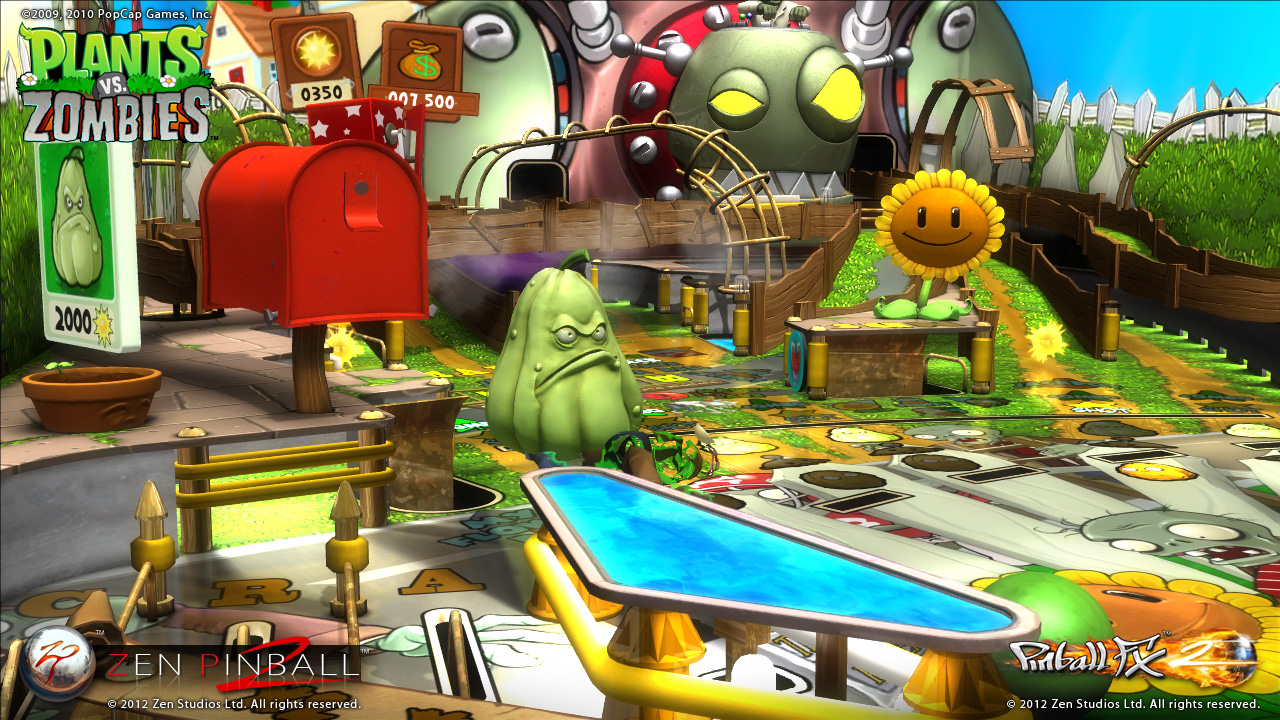 Zen pinball 2 and plant vs zombies table review for Table zombies