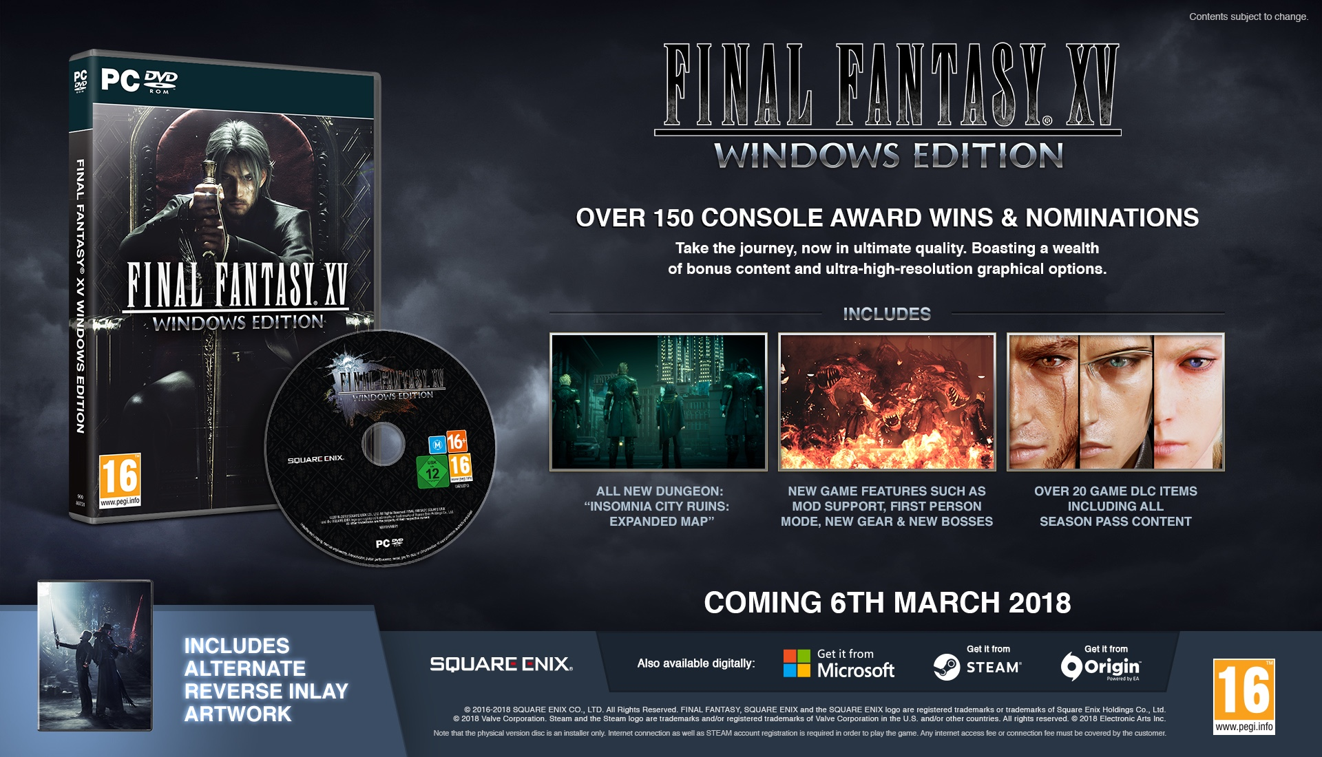 FINAL FANTASY XV WINDOWS EDITION Release Date and System ...